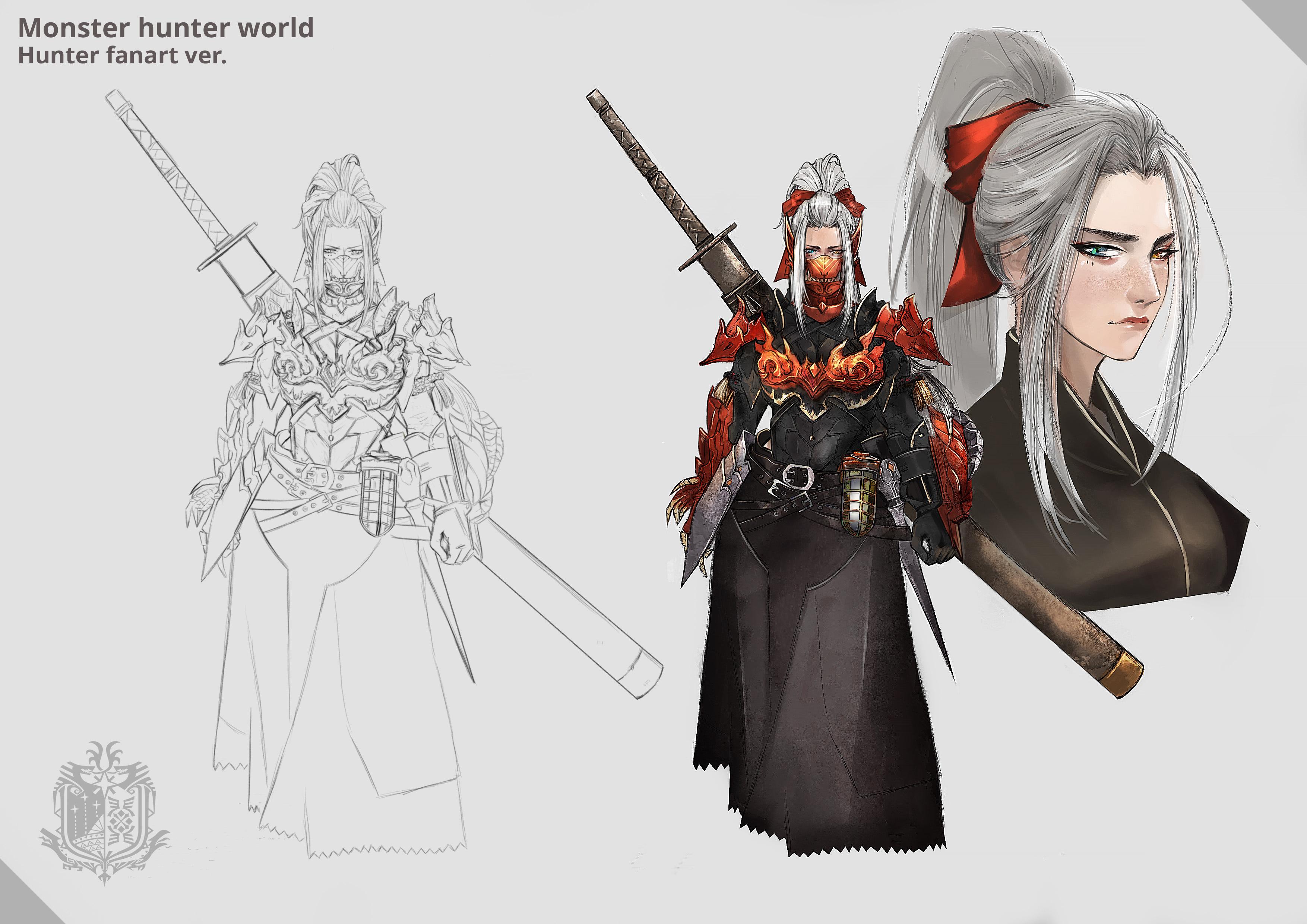 monster hunter world female armor art