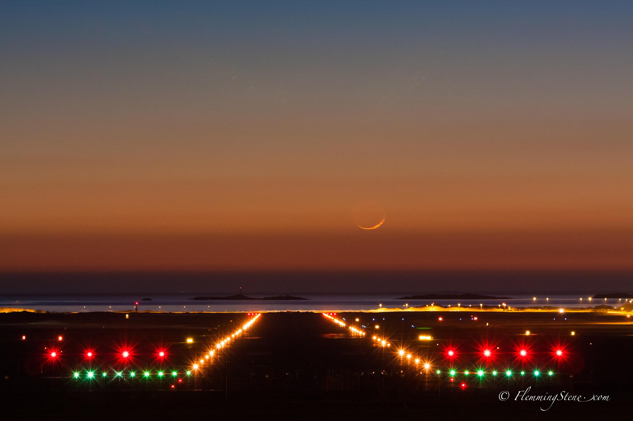 Sunset runway