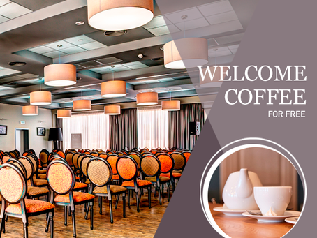 Welcome coffee for free!