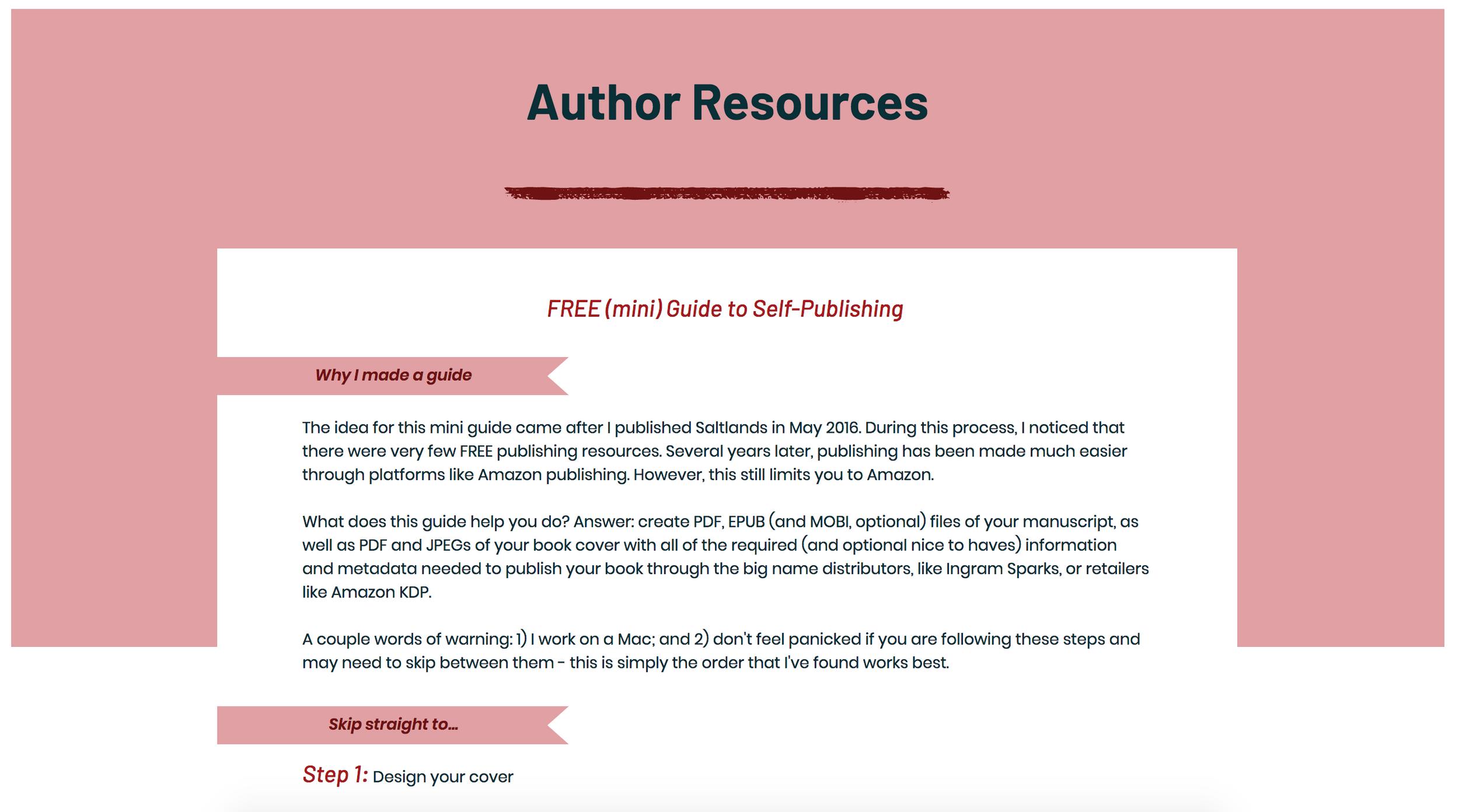Free self-publishing guide