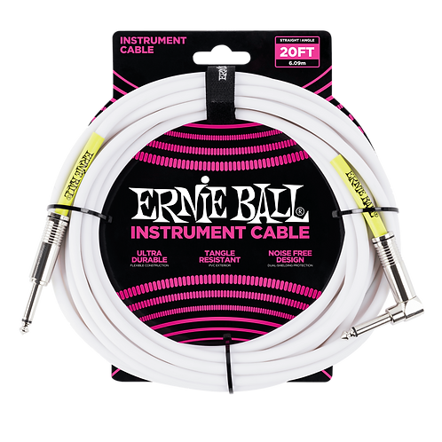 Ernie Ball Classic Instrument Cable (20ft) Straight/Angle