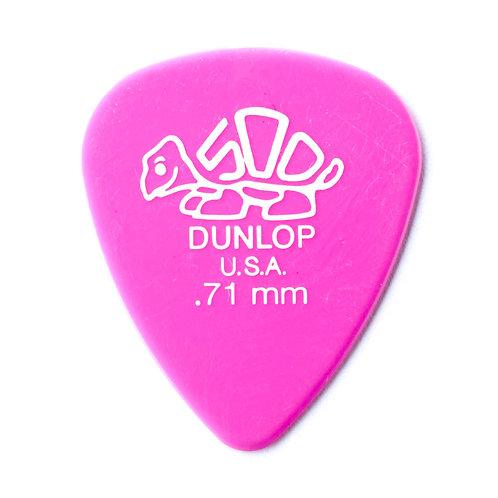 Dunlop Delrin Guitar Pick 12 Pack (.71mm) Pink