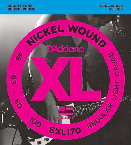 D'Addario Electric Bass Strings 45-100 Regular Light