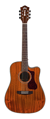 Guild D-120CE Solid Mahogany Acoustic/Electric/Cutaway