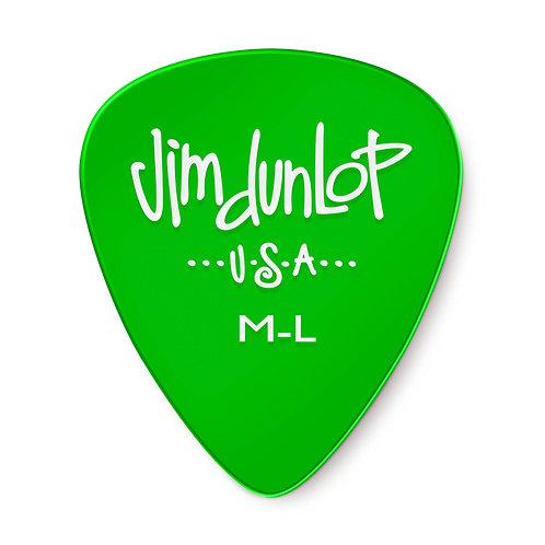 Dunlop GEL Guitar Pick 12 Pack (Medium Light) Green