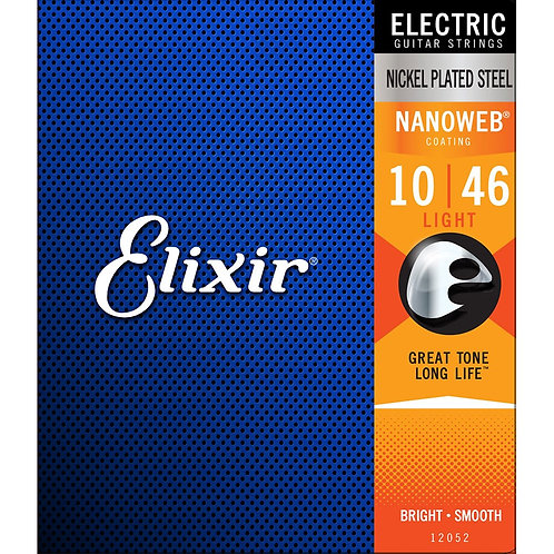 Elixir Nanoweb Electric Guitar Strings 10-46 Light