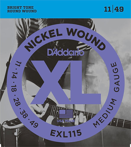 D'Addario Electric Guitar Strings 11-49 Medium
