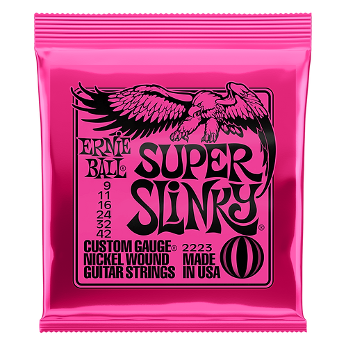 Ernie Ball Electric Guitar Strings 09-42 Super Slinky