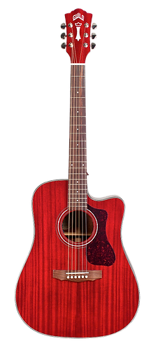 Guild D-120CE Solid Mahogany Acoustic/Electric/Cutaway (Cherry)