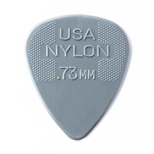 Dunlop Nylon Guitar Pick 12 Pack (.73mm) Grey