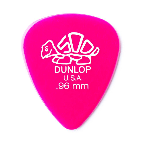 Dunlop Delrin Guitar Pick 12 Pack (.96mm) Pink