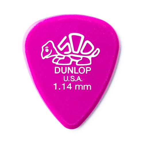 Dunlop Delrin Guitar Pick 12 Pack (1.14mm) Pink