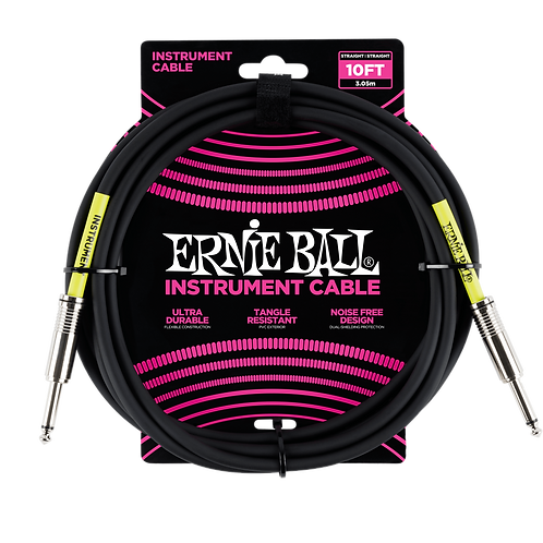 Ernie Ball Classic Instrument Cable (10ft) Straight/Straight