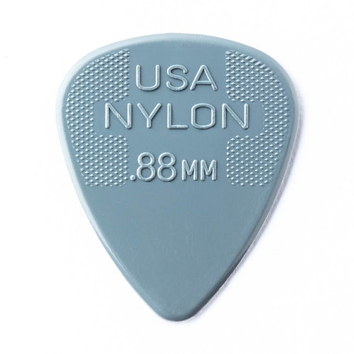 Dunlop Nylon Guitar Pick 12 Pack (.88mm) Grey
