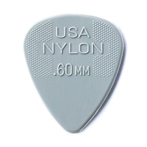 Dunlop Nylon Guitar Pick 12 Pack (.60mm) Grey