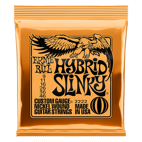 Ernie Ball Electric Guitar Strings 09-46 Hybrid Slinky