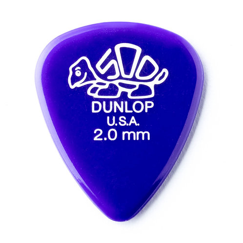Dunlop Delrin Guitar Pick 12 Pack (2.00mm) Pink