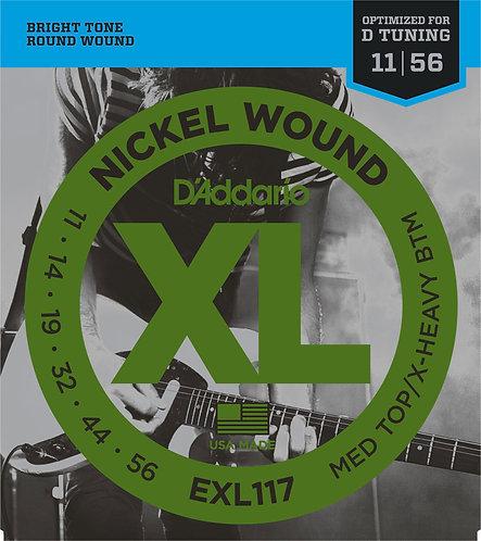 D'Addario Electric Guitar Strings 11-56 Heavy - Drop D