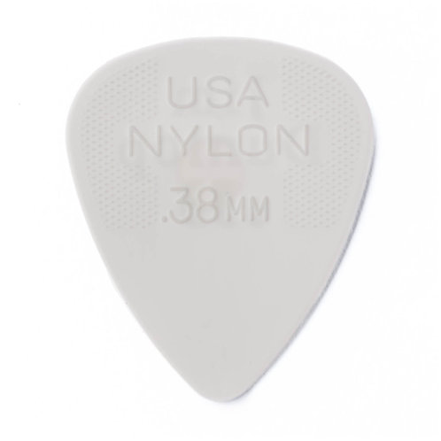 Dunlop Nylon Guitar Pick 12 Pack (.38mm) Grey