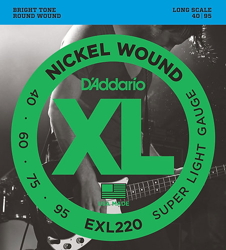 D'Addario Electric Bass Strings 40-95 Super Light