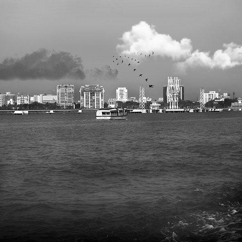 The arrival of monsoon, Kochi 2000