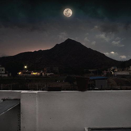"Moon Peak, Archival Pigment Print, 24""x24"", Abul Kala"