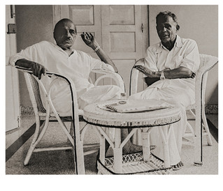 Two novelists, Vaikkom Mohamed Basheer and Thakazhi Sivasankara Pillai