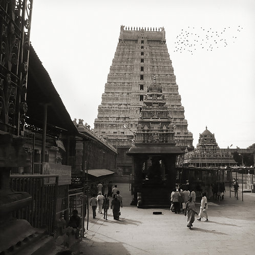 "Shiva Temple, Archival Pigment Print, 30""x30"", Abul Kalam Azad"