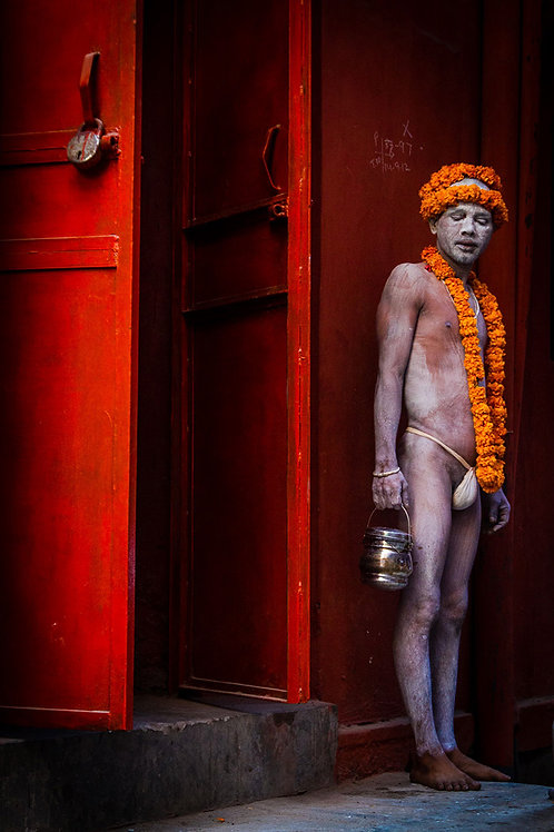 "Standing Aghori, Archival Pigment Print, 20""x30"", Dinesh Khanna"