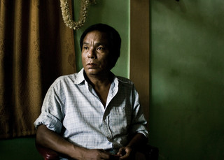 Bodo tribal man in Assam. Some of the tribals are so poor that they had a hard time feeding their families.