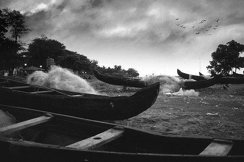 Countryboats in Kochi Beach, 1993