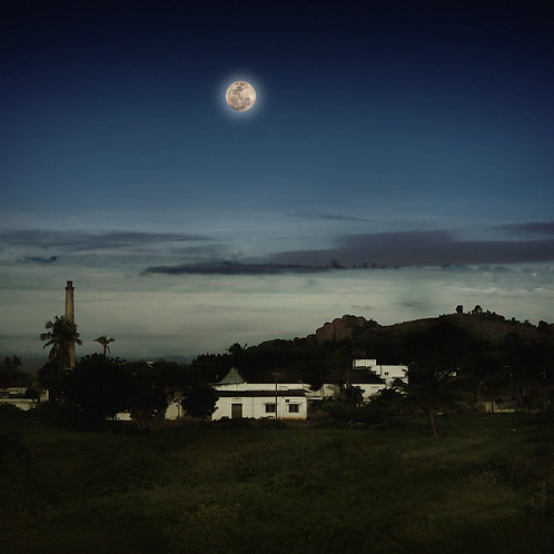 """Full Moon, Archival Pigment Print, 24""""x24"""", Abul Kala"""