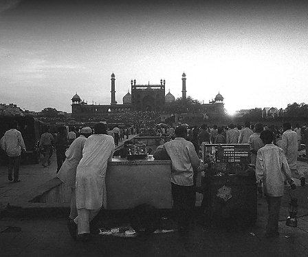"Delhi Days, Archival Pigment Print, 12""x10"", Abul Kalam Azad, 1992"