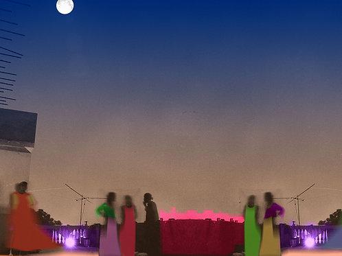 """Moon In my Terrace   30""""x25.5""""   2020"""