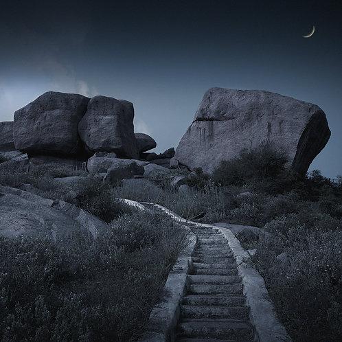 "The Moon Path, Archival Pigment Print, 24""x24"", Abul Kalam Azad"