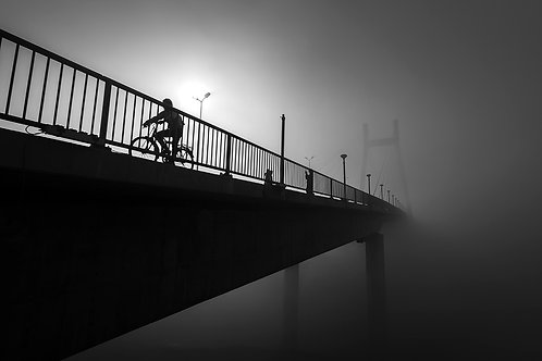 "Misty Morning, Archival Pigment Print, 12""x8"", Shridarshan Shukla"