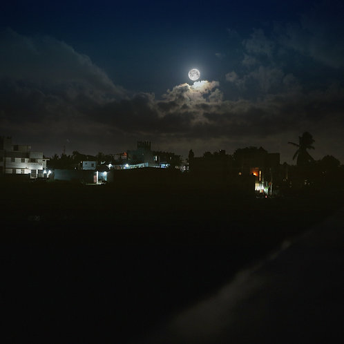 "Full moon in Tiruvannamalai, Archival Pigment Print, 24""x24"", Abul Kalam Azad"