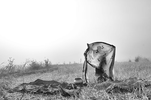 "Drying Clothes, Archival Pigment Print, 12""x8"", Padmanabhan"