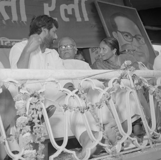 Ram Vilas Paswan, SR Bommai, Phoolan Devi, Madhu Dandavate, Dalit Sena Rally, Delhi Public and Private © Ram Rahman 1998