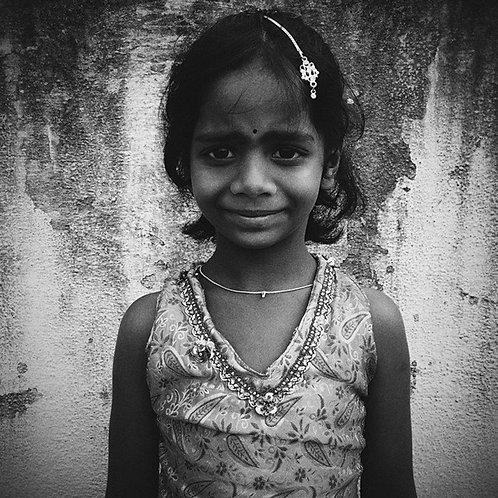"Smiling Girl, 15""x15"", Archival Pigment Print, Leo James"