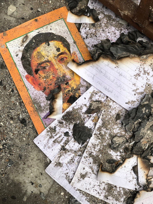 Shiv Vihar Delhi Riots - a school was attacked and burned down in retaliation of the anti-CAA protests Public and Private © Ram Rahman 2020