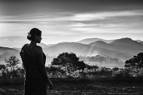"Lady of the Mountains, Archival Pigment Print, 12""x8"", Padmanabhan"