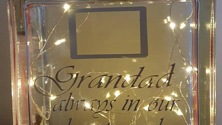 Grandad photo memorial light block