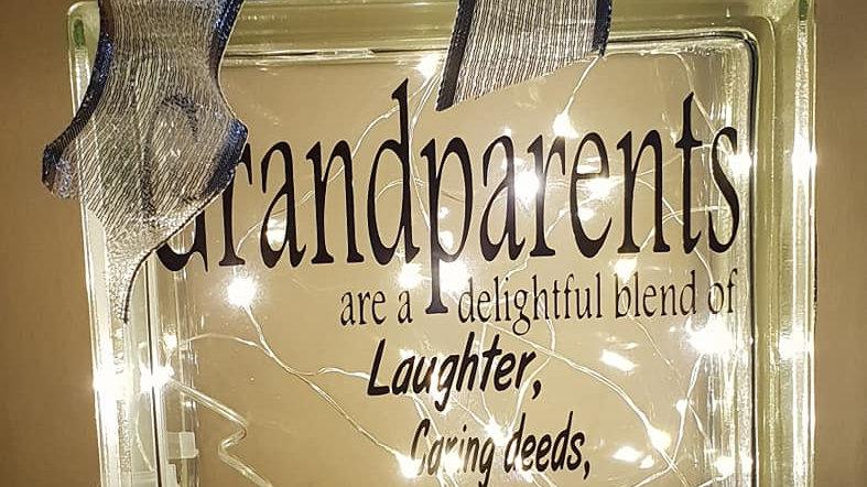 Grandparents are a delightful blend light block
