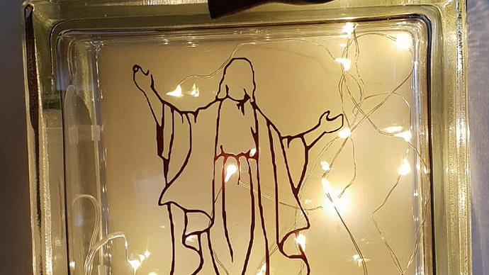 welcome hands of jesus light block