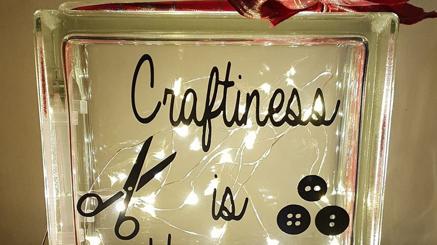 Craftiness is Happiness light block