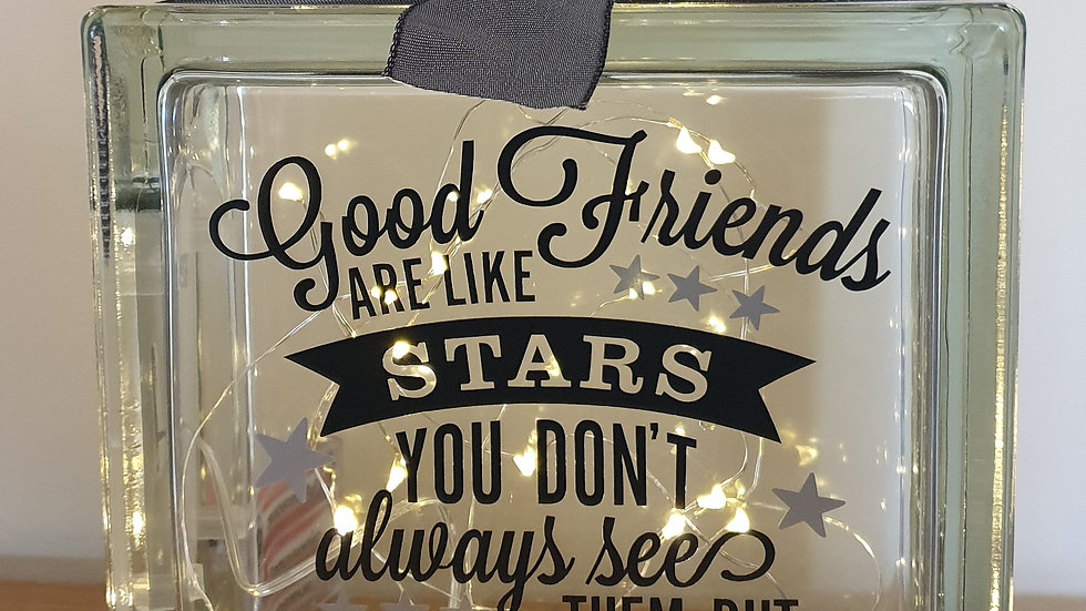 Friends are like stars light block