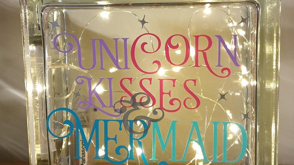 Unicorn kisses and mermaid wishes light block