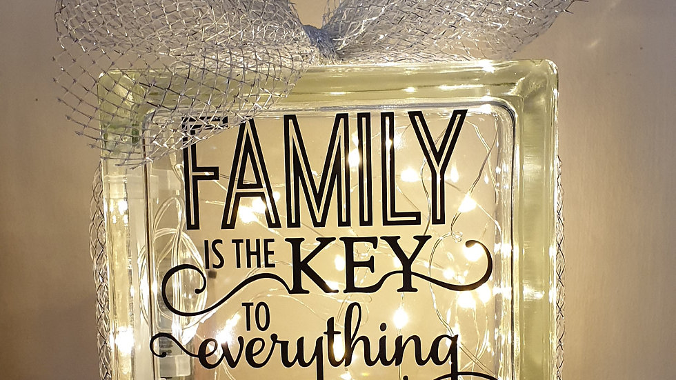 Family is the key to everything light block
