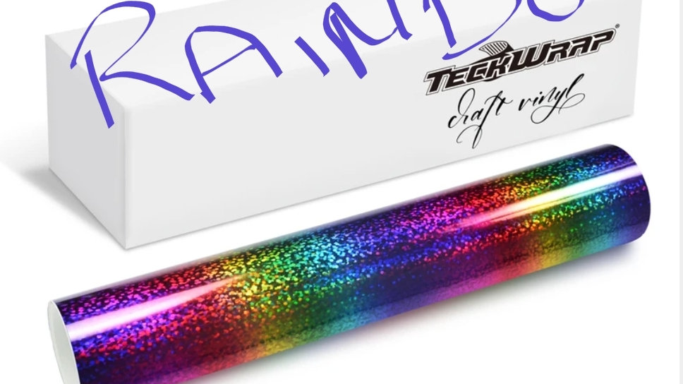 Teckwrap holographic Sparkle Rainbow sa 12in x 5ft